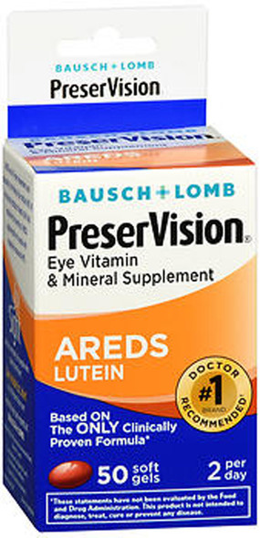 PreserVision Eye Vitamin and Mineral Supplement AREDS With Lutein - 50 Softgels