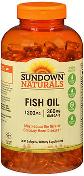 Sundown Naturals Fish Oil 1200 mg  - 300 Softgels