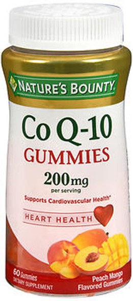 Nature's Bounty Co Q-10 200 mg Dietary Supplement Gummies Peach Mango - 60 ct