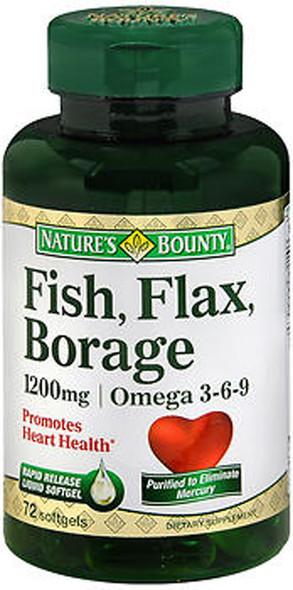 Nature's Bounty Fish Flax Borage 1200 mg Softgels -60 ct