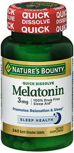 Nature's Bounty Melatonin 3 mg Tablets Triple Strength - 240 Tablets