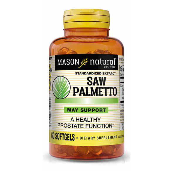 Mason Natural Saw Palmetto Softgels - 60ct