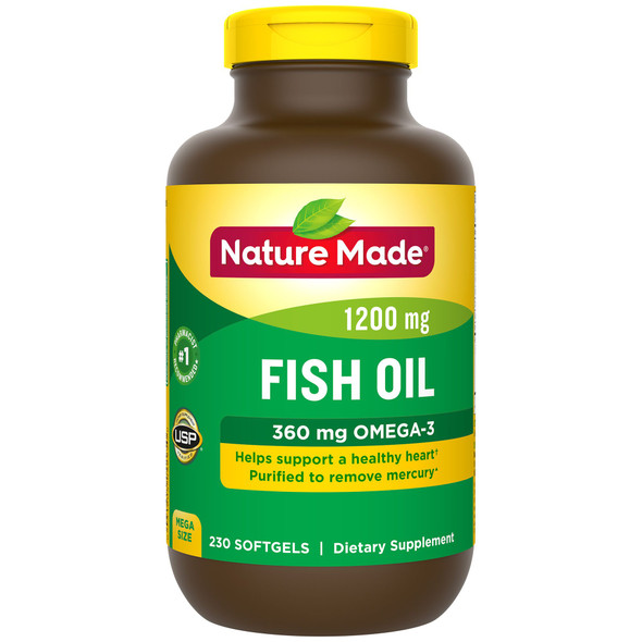 Nature Made Fish Oil 1200 mg - 230 Softgels