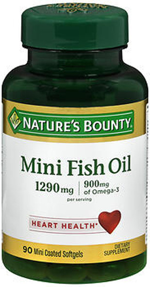 Nature's Bounty Fish Oil 1290 mg Mini Softgels - 90 ct