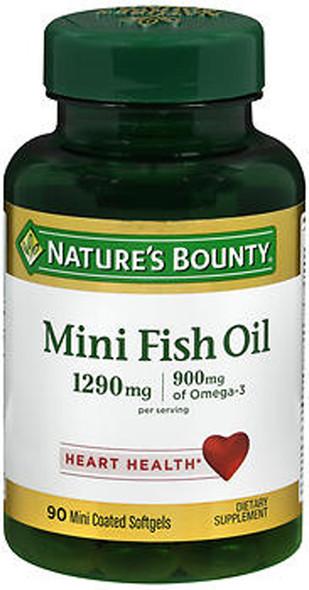 Nature's Bounty Fish Oil 1290 mg Mini Softgels - 90 ct