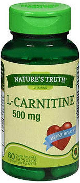 Nature's Truth L-Carnitine 500 mg Dietary Supplement - 60 Capsules