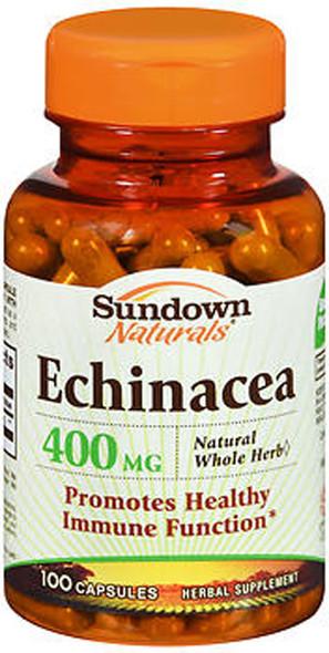 Sundown Naturals Echinacea 400 mg Capsules  100 ct
