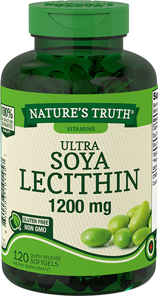 Nature's Truth Ultra Soya Lecithin 1200 mg Quick Release Softgels - 120 ct