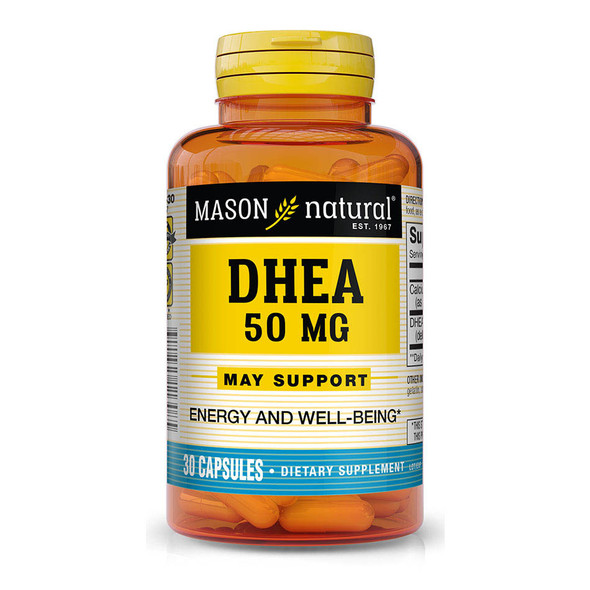 Mason Natural Pure Power DHEA 50 mg Capsules - 30ct