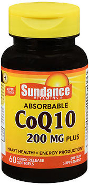 Sundance Vitamins Absorbable CoQ10 200mg - 60 Softgels