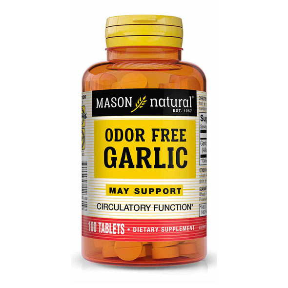 Mason Natural Odor-Free Garlic Tablets - 100ct