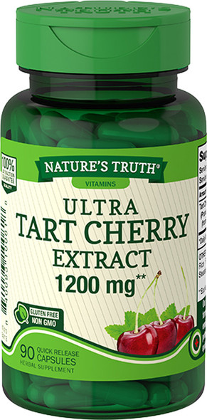Nature's Truth Ultra Tart Cherry 1200 mg Dietary Supplement Quick Release Capsules - 90 ct