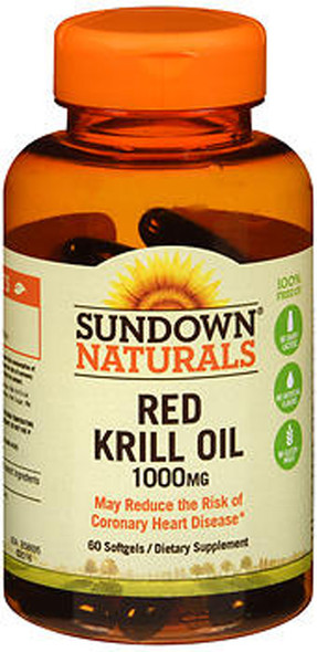 Sundown Naturals Red Krill Oil 1000 mg Softgels - 60 ct