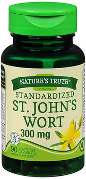 Nature's Truth Standardized St. John's Wort 300 mg Quick Release Capsules - 90ct