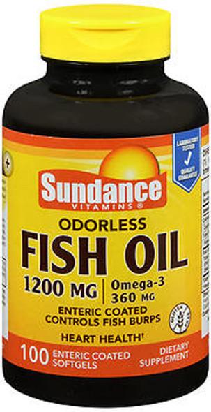 Sundance Vitamins Odorless Fish Oil 1200 mg /Omega-3 360 mg - 100 Softgels
