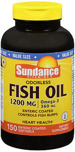 Sundance Vitamins Odorless Fish Oil 1200 mg /Omega-3 360 mg - 150 Softgels