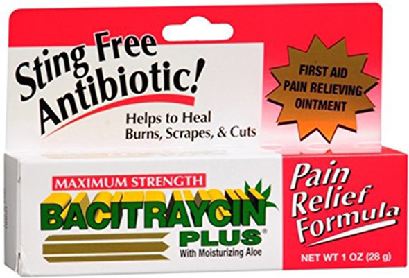 First Aid Research Bacitraycin Plus Ointment Maximum Strength - 1 oz