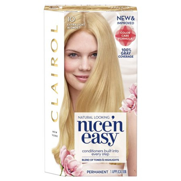Clairol Nice 'n Easy Hair Color 10 Natural Extra Light Blonde