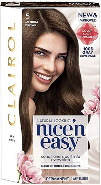 Clairol Nice 'n Easy Permanent Haircolor 5 Medium Brown