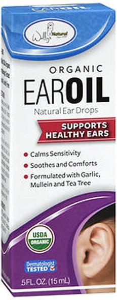 Wally's Natural Organic Ear Oil Natural Ear Drops - .5 oz