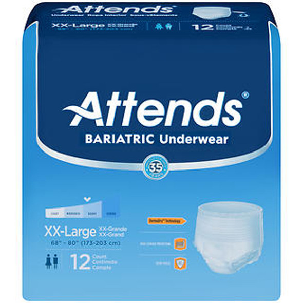 Attends Adult Bariatric Underwear XXL - 4 pks of 12