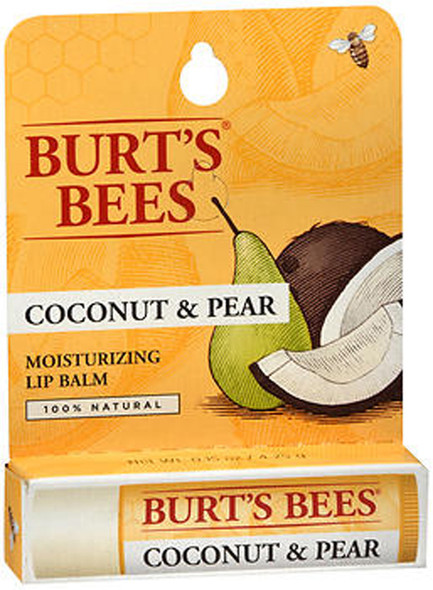 Burt's Bees Moisturizing Lip Balm Coconut & Pear - 6 ct