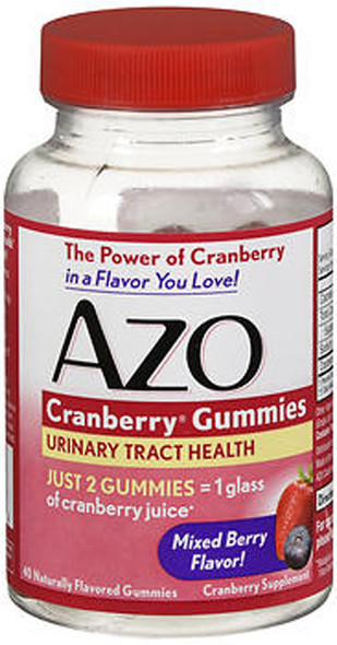 Azo Cranberry Gummies Mixed Berry Flavor - 40 Ct.