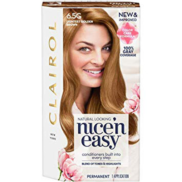 Clairol Nice 'n Easy Hair Color 6.5G Natural Lightest Golden Brown