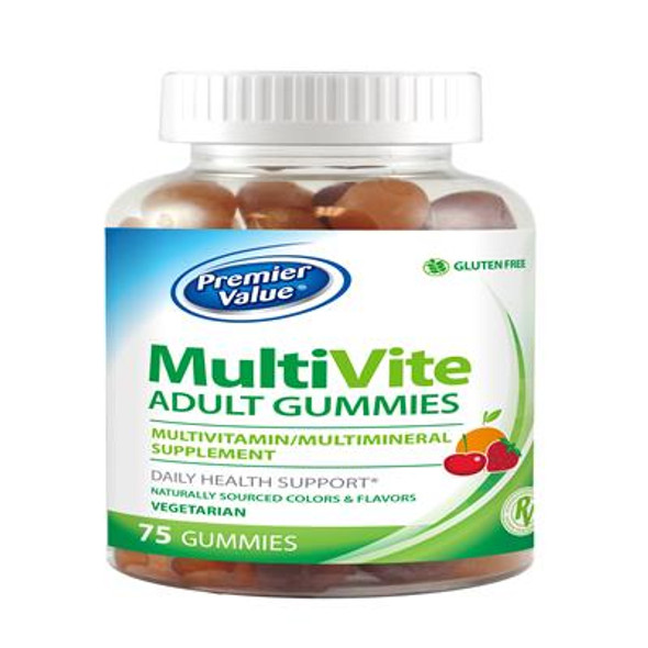 Premier Value Adult Mulitivitamin Gummies - 75 ct