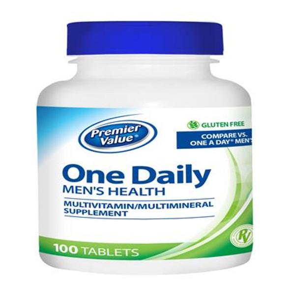 Premier Value One Daily Men's Health Multivitamin - 100 ct, Tablet