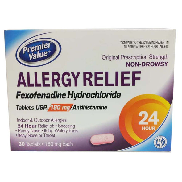 Premier Value Allergy Relief, 180mg - 30ct