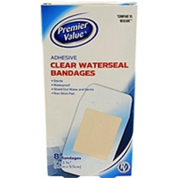 Premier Value Clear waterseal Bandage - 8ct
