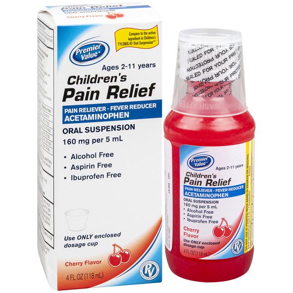 Premier Value Non Aspirin Suspension, Cherry - 4oz