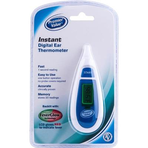 Premier Value Instant Ear Thermometer - 1ct