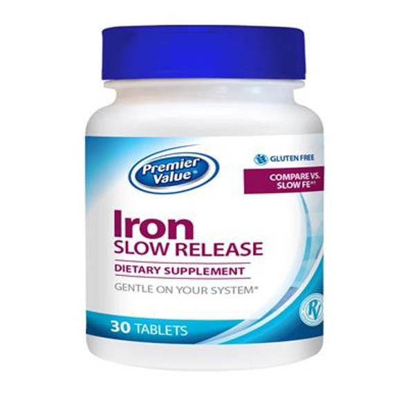 Premier Value Slow Release Iron Supplement - Tablet  30 ct