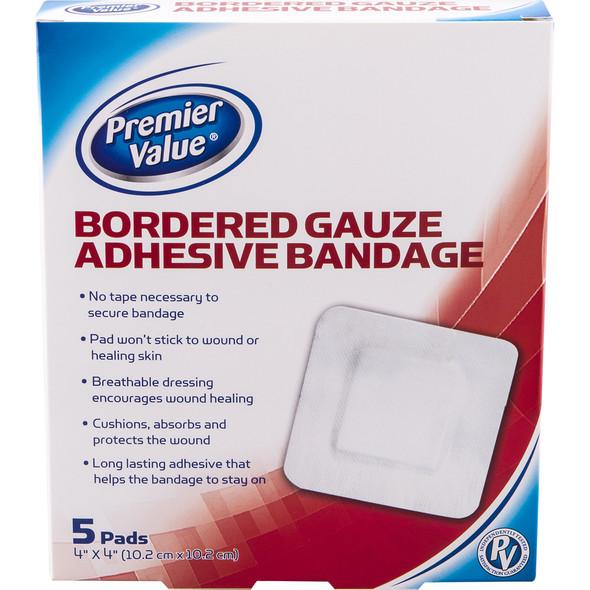 "PV Gauze Pad Border Island - 4x4"""
