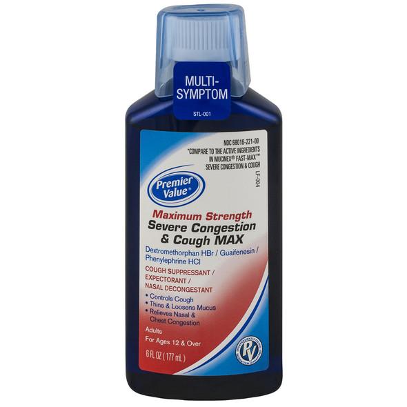PV Maximum Strength Severe Congestion & Cough MAX - 6 fl oz
