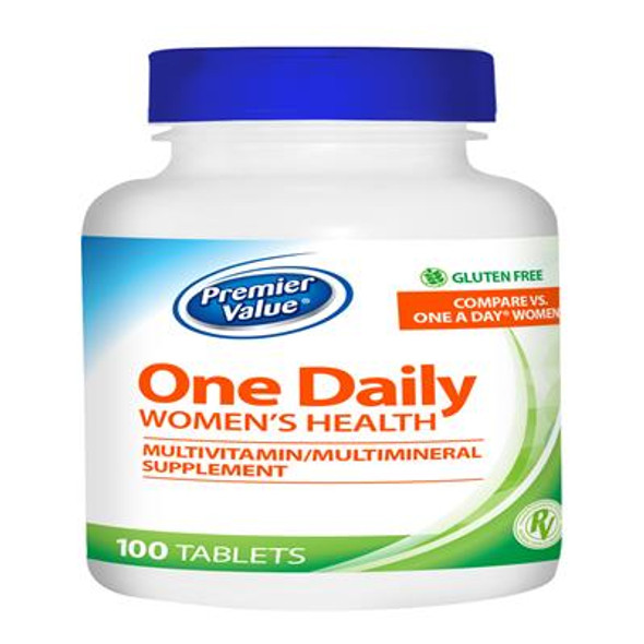 Premier Value One Daily Women's Health Multivitamin - Tablet 100ct