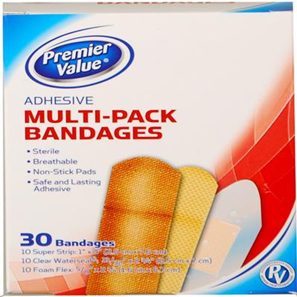 PV Bandage Assorted Multi Pack - 30ct