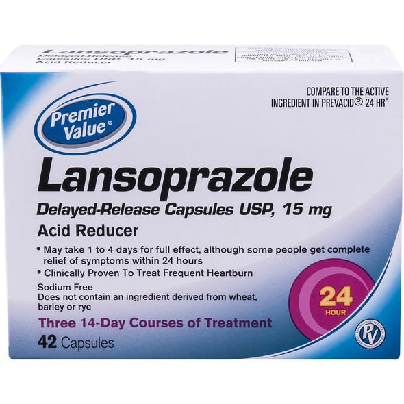 Lansoprazole Delayed Release 15mg Capsules - 42 ct