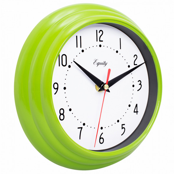 Wall Clock - Lime Green, 8""