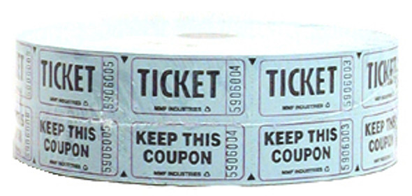 Double Roll Tickets - Qty 2000, Blue