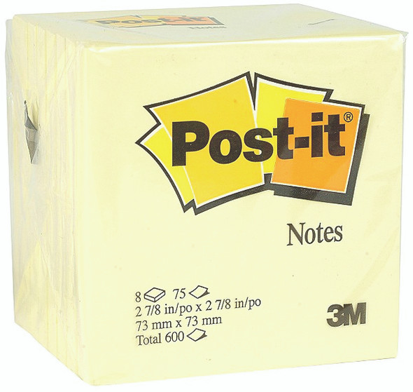 Post It Note Pads - Yellow