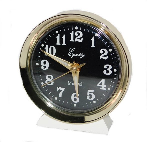 "Equity Analog Wind-Up Alarm Clock - 4""x2 1/2"""
