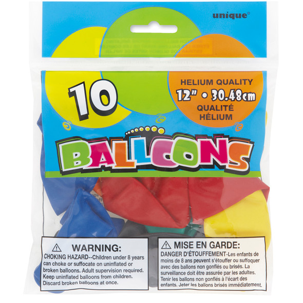 "12"" Balloon - Assortment, 12"""