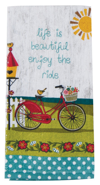Kitchen Towel-Enjoy The Ride - Enjoy The Ride, 16x26""