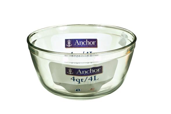 Glass Mixing Bowl - Clear, 4 qt