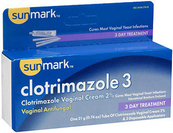 Sunmark Clotrimazole 3 Vaginal Antifungal Cream - 0.7 oz
