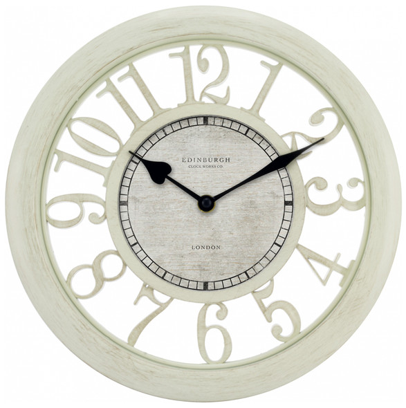 "Floating Dial Wall Clock - 11.5"", Antique White"