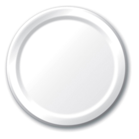 """Solid Color Dinner Plates - White, 9"""""""